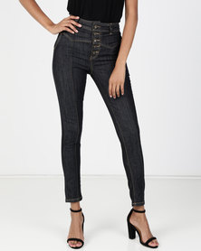 Vero Moda Timing High Waist Slim Jeans  Indigo Blue Denim