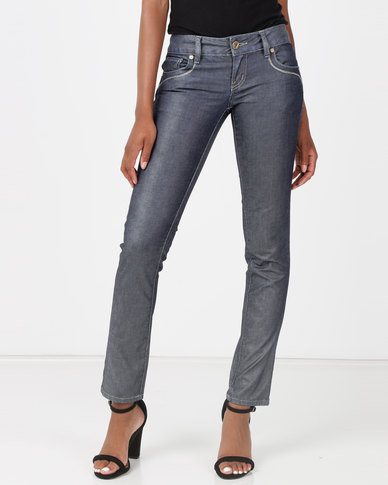 Vero Moda Fern Slim Jeans Grey Blue Denim
