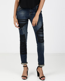 Vero Moda Prudence Slim Jeans Dark Blue Denim