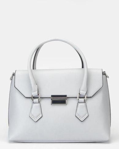 Bata Ladies Fashionable Handbag Light Blue