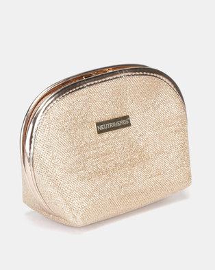 Neutriherbs Cosmetic Bag Gold