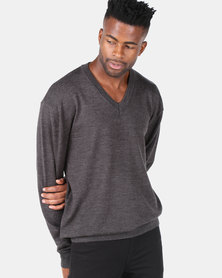 Highland Brook Long Sleeve Upmarket Jersey Charcoal