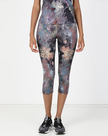 Fifth Element Koh Tao Coral Print Capris Leggings Multi