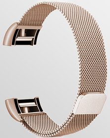 Gretmol Copper Gold Mesh Fitbit Charge 2 Strap - Small