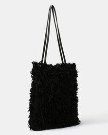 UB Creative Fur Handbag Black