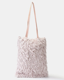 UB Creative Fur Handbag Lilac
