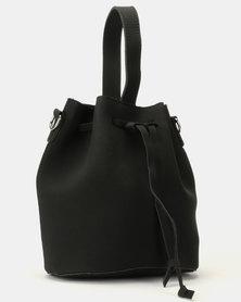 UB Creative Leather Look Pouch Handbag Black