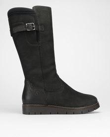 Froggie Pat Long Boots Black