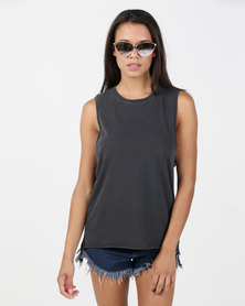 Hurley Solid Wash Biker Tank Anthracite