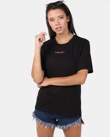 Hurley Island Ties Perfect Crew T-Shirt Black