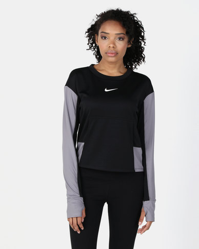 e4ee71fe808 Nike Performance W NK TOP PACER CREW SD GX Black