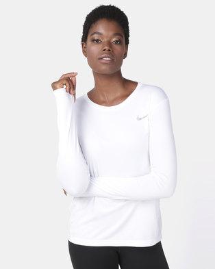 aa787ba494d48 Nike Performance W NK MILER LS Top White