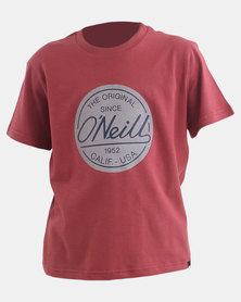 O'Neill Boys Rounders T-Shirt Oxblood Slub