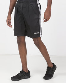 adidas Performance Mens 3S Woven Shorts Black