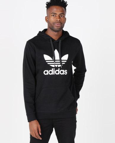 4a88ca0a adidas Originals Mens Trefoil Hoodie Black