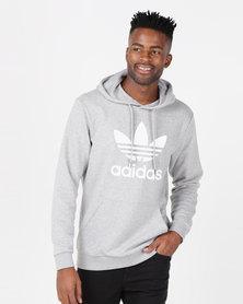 adidas Originals Mens Trefoil Hoodie Grey