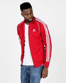 adidas Originals Mens SST Track Top Red