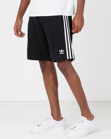 adidas Originals Mens 3 Stripe Shorts Black