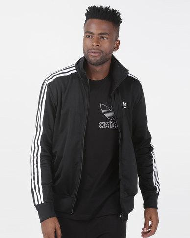 adidas Originals Mens Firebird Track Top Black