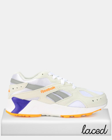 Reebok Aztrek Sneakers 90s White/True Grey/Solar Gold/Team Purple