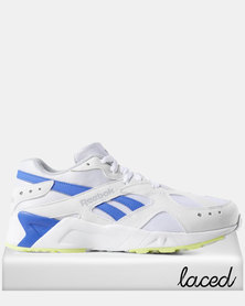 Reebok Aztrek Sneakers 90s White/Cold Grey /Crushed Cobalt/Neon Lime