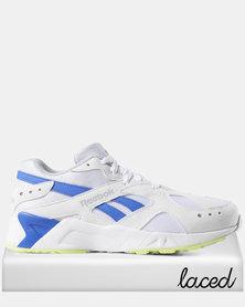 Reebok Aztrek Sneakers 90s White/Cold Grey /Crushed Cobalt/Neon Lime