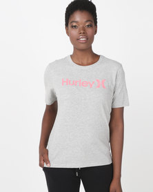 Hurley One & Only Perfect Crew T-shirt Grey