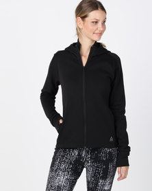 Reebok Performance OS Cotton FZ Hoodie Black