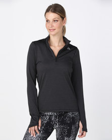 Reebok Performance RE 1/4 Zip Pullover Black