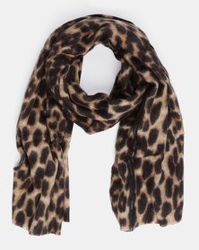 You & I Oversized Leopard Scarf Multi