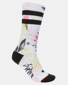 Stance Sonic Crew Socks White