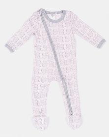 Home Grown Jumpsuit Zipper Owl Baby Pink