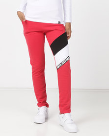 ECKÓ Unltd Colourblock Joggers Red