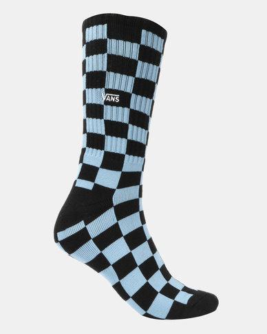 Vans Checkerboard Crew Socks Blue