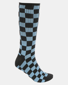 Vans Checkerboard Crew II Socks Blue-Black