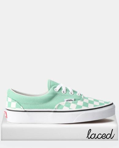 d6ebee9787e0ce Vans UA Era Sneakers Checkerboard Neptune Green True White