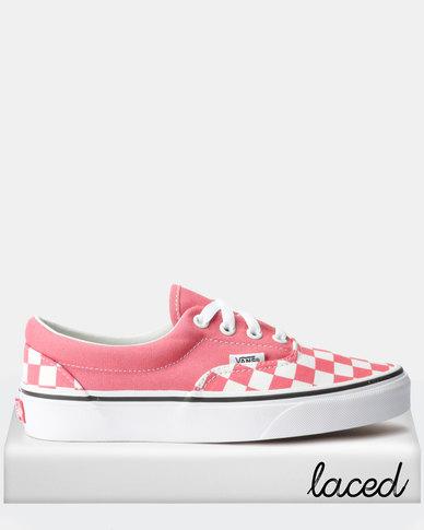 7c34f1210ed4d Vans UA Era Sneakers Checkerboard Strawberry Pink/True White | Zando