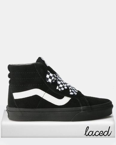 8136f5df01 Vans UA SK8-Hi Suede Alt Lace Sneakers Check Wrap Black White