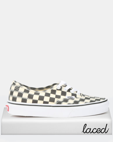 Vans Blur Check Authentic Sneakers Black/White