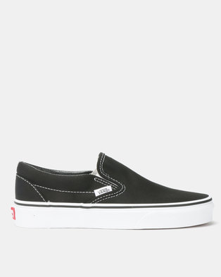 5d2d3854f2f1f4 Vans Classic Slip On Sneakers Black