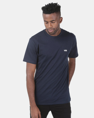 111986c2dd6bc6 Vans Left Chest Logo Tee Navy | Zando