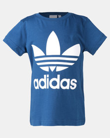 adidas Originals Little Boys Trefoil Tee Blue