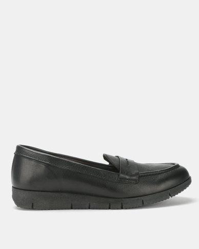 Tsonga Leather Kalikuni Slip On Shoe Black Vintage