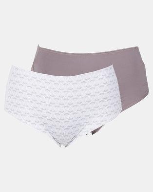 384ce71176e0 Triumph 2 Pack Basic Hipster Panties Grey & Cream