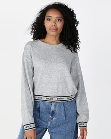 Levi's® Logo Trim Sweatshirt Smockstack Heather