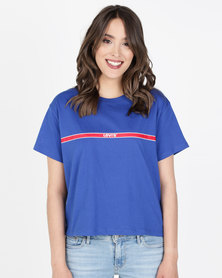 Levi's® Graphic Varsity Tee Blue