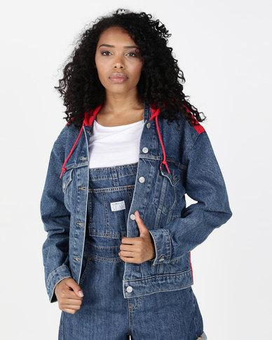 Levi's® Ex-Boyfriend Hybrid Trucker Jacket Blue