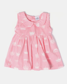 Kapas Crowns on Pink Classic Dress Pink