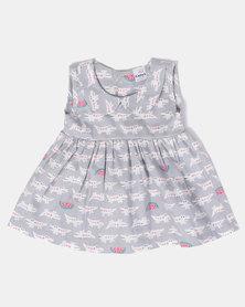 Kapas Crocs on Grey Classic Dress Multi