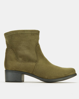 Utopia Flat Ankle Boots Green MF